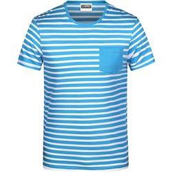 T-shirt bio rayé Homme