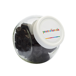 Bocal de bonbons 395 ml couvercle en plastique blanc
