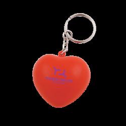 Anti-stress Coeur avec porte-clés