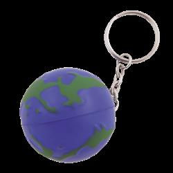 Anti-stress Globe avec porte-clés