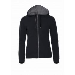 Sweatshirt capuche full zip  avec poches zippées