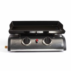 Plancha gaz 2 brûleurs