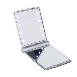 Miroir de poche lumineux