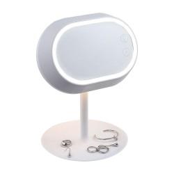 Miroir lampe tactile sur pied