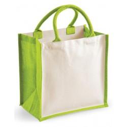 Printers Midi Jute Bag