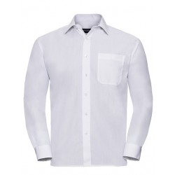 Men`s Long Sleeve Classic Polycotton Poplin Shirt