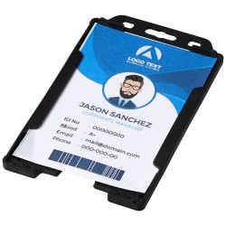 Porte-badge transparent Pierre